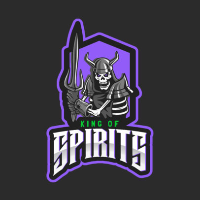 Fantasy Logo Maker with a Skeleton Soldier for a Gaming Team 2620g