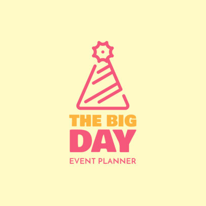Logo Generator for a Cheerful Event Planner 1334h-57-el
