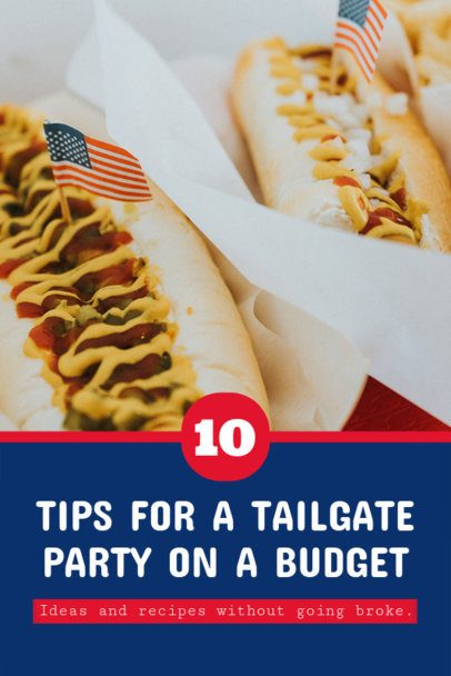 Pinterest Pin Generator with Recipes for a Football Tailgate Party 626k-1935