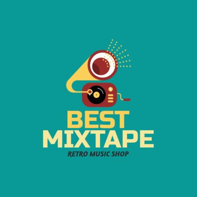 Retro Music Store Logo Template 1184i 33-el