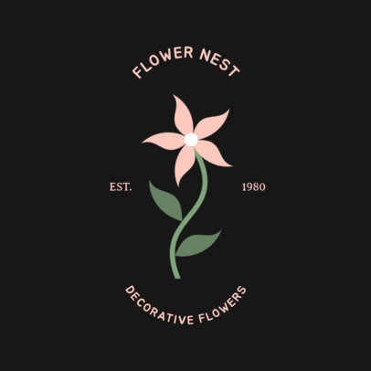 Online Logo Template for a Florist Shop