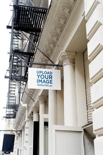 Mockup of a Shop Sign on an Elegant Building 681-el