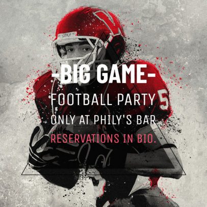 Social Media Post Design Maker for a Big Game Party 582k-1928