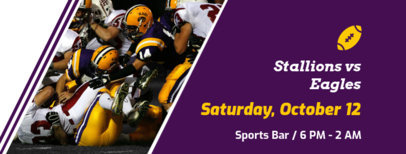 Sports Bar Facebook Cover Maker for a Football Game Night Reminder 1931d
