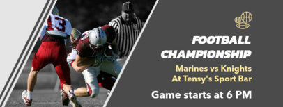 Sports Bar Facebook Cover Generator for a Football Championship Promo 1931b