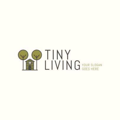 Tiny Houses Logo Maker for a Real Estate Company 2630a