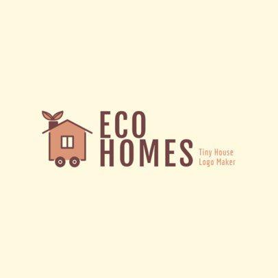 Real Estate Logo Maker for Ecological Homes 2630c
