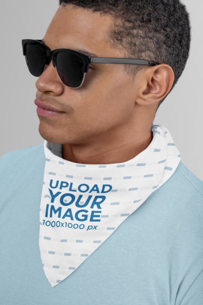 Bandana Mockup of a Man with Sunglasses 29594