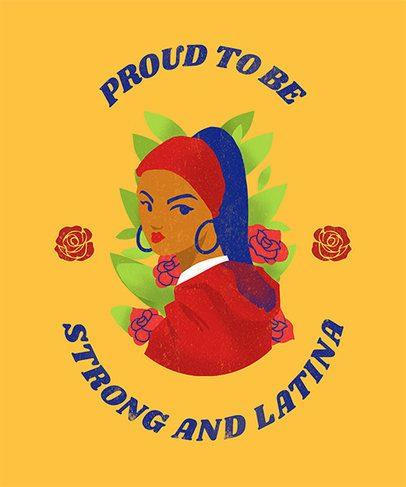 T-Shirt Design Maker with Empowered Latina Women Graphics 1917