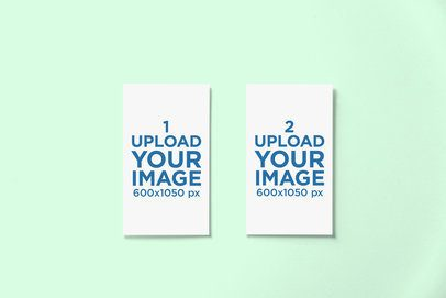 Mockup of Two Business Cards Placed Next to Each Other and Against a Plain Background 758-el