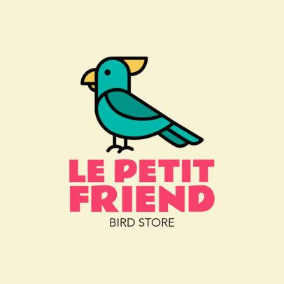 Bird Store Logo Maker Featuring a Cockatoo Clipart 1191g 84-el