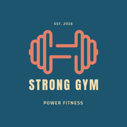 Online Logo Generator for a Power Fitness Gym 2457j 93-el