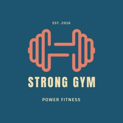Online Logo Generator for a Power Fitness Gym 2457j 93-el