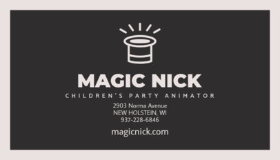 Business Card Maker for Children's Party Entertainers 85f 69-el
