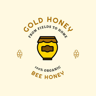 Logo Maker for an Organic Honey Brand 1287h 78-el