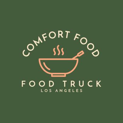 Online Logo Generator for a Comfort Food Truck 1213g 71-el