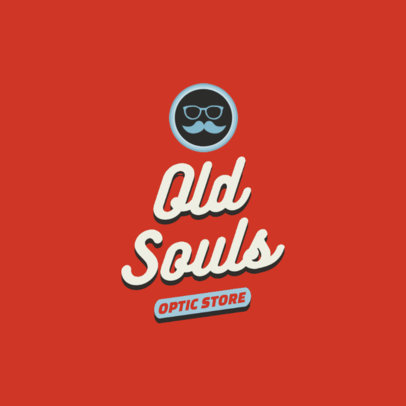 Logo Maker for an Optic Store with a Retro Style 2627j