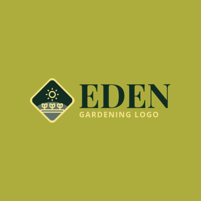 Online Logo Template for Gardening Companies 1422h 67-el