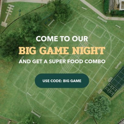 Football Banner Design Creator for a Big Game Night 16639l-1929