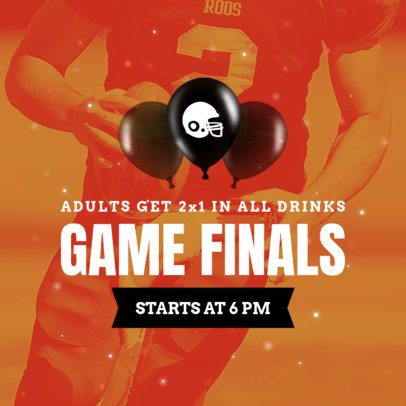 Banner Design Template for a Game Finals Sale 749h-1929