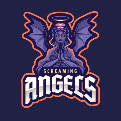 Gaming Logo Generator Featuring a Wicked Angel 2633d