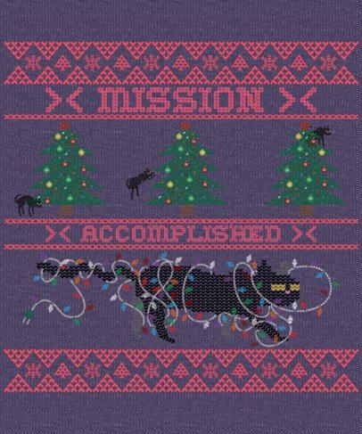 T-Shirt Design Maker for an Ugly Sweater Christmas Celebration 1914c