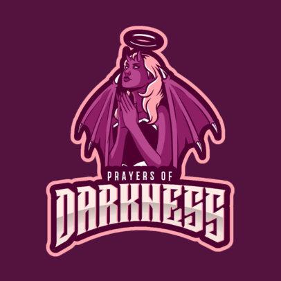 Logo Creator Featuring a Mischievous Angel Praying 2633g