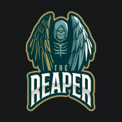 Logo Maker with a Reaper with Wings 2633m