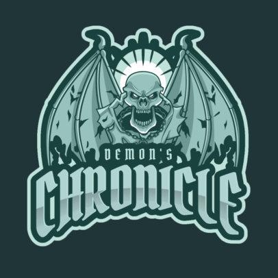 Online Logo Generator with a Skeleton Demon 2633o