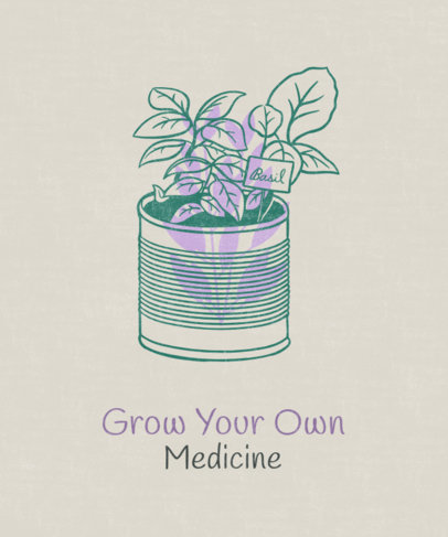 Sustainability T-Shirt Design Maker Featuring a Home-Grown Medical Plant 1922e