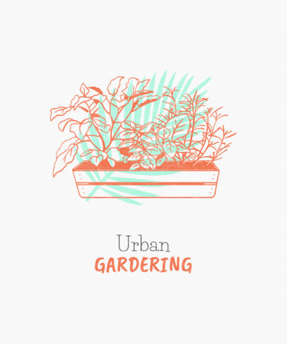 Sustainability T-Shirt Design Template for Urban Gardeners 1922h
