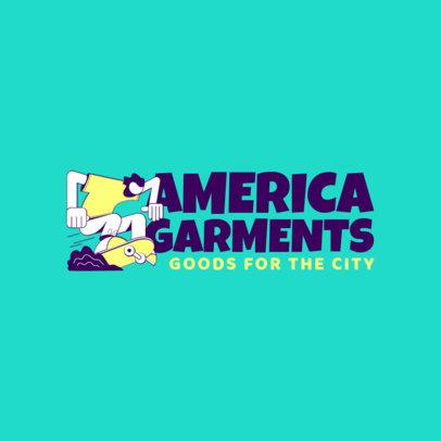 Santa Cruz Inspired Logo Design Creator for a Streetwear with a Skater Cartoon 2626f