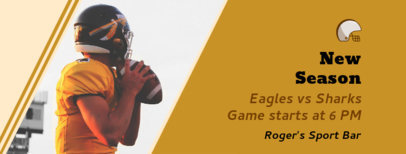 Facebook Cover Template for a Football Night at a Sports Bar 1931f