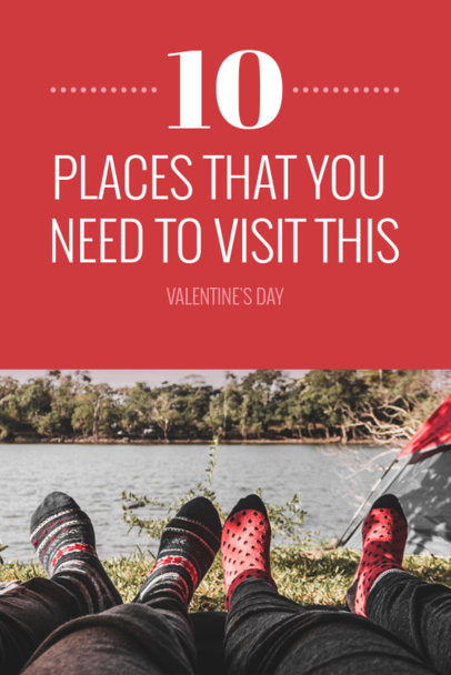 Pinterest Pin Template for Valentine's Day Travel Destinations