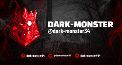 Twitch Banner Design Template for Horror Gaming
