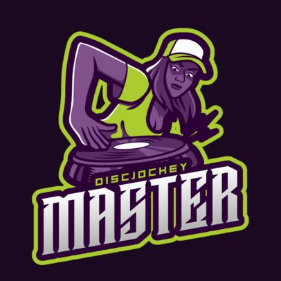 Logo Template Featuring DJ Character Illustrations 2661