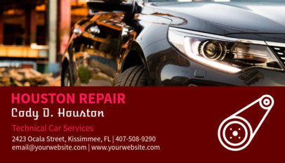 Auto Repair Shop Business Card Design Template 158e 85-el