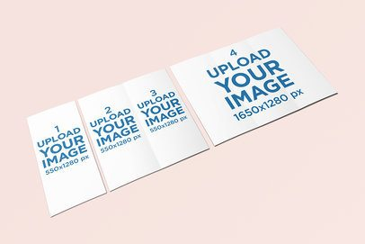 Mockup Featuring Three Brochures Lying on a Solid Color Surface 258-el