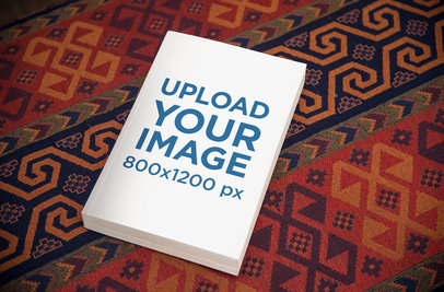 Mockup Featuring a Book Lying on a Rug 867-el