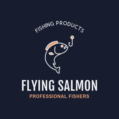 Online Logo Template for Fishing Gear Stores 1795g 95-el