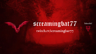 Horror-Style Twitch Banner Maker Featuring a Foggy Background