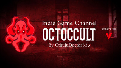 Twitch Banner Generator with a Horror Style