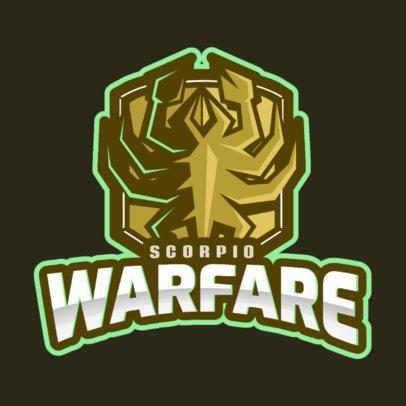 Logo Design Maker with a Scorpio Emblem in Style of Rainbow Six Siege 2663b