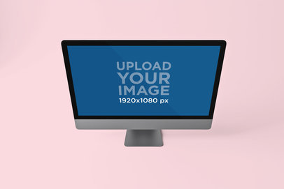 iMac Pro Mockup Featuring a Customizable Abstract Background 805-el