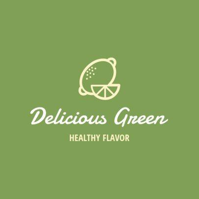 Simple Logo Maker for a Healthy Food Restaurant 1267g 42-el