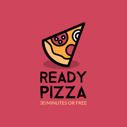 Pizza Place Logo Maker for a Fast Food Restaurant 989f 42-el