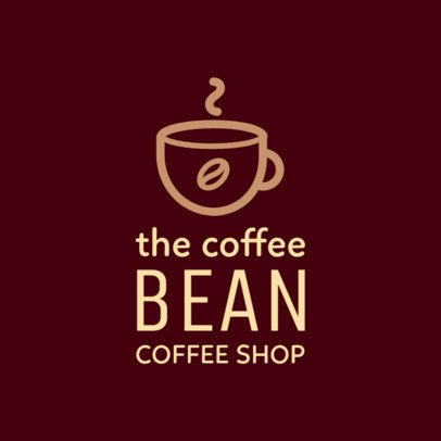Simple Online Logo Template for Coffee Shops 956f 42-el