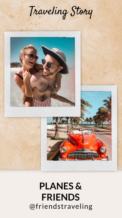 Travel-Themed Instagram Story Design Template 1951