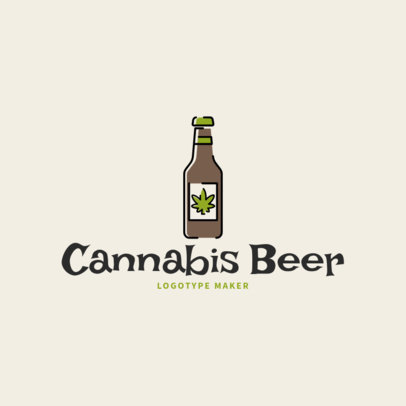 Logo Maker Featuring a Cannabis Beer Graphic 2648g