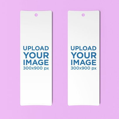 Mockup of Two Bookmarks Lying Side by Side 880-el
